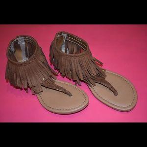 Brown Fringe Sandals | Kids' Shoes | Girls